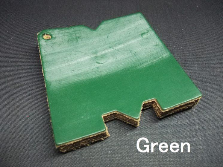 メトロポリタン社のブライドルレザーのグリーンカラーの画像