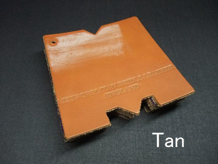 メトロポリタン社のブライドルレザーのタンカラーの画像