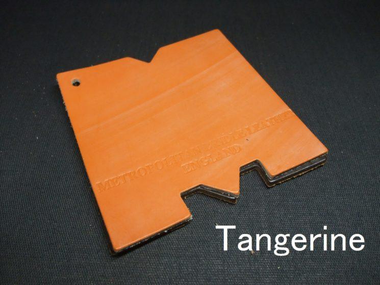 メトロポリタン社のブライドルレザーのタンジェリンカラーの画像