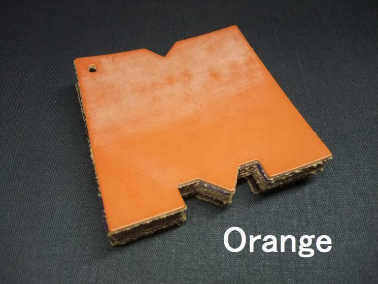 メトロポリタン社のブライドルレザーのオレンジカラーの画像