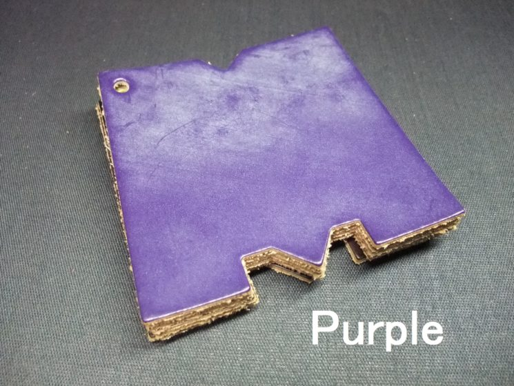 メトロポリタン社のブライドルレザーのパープルカラーの画像