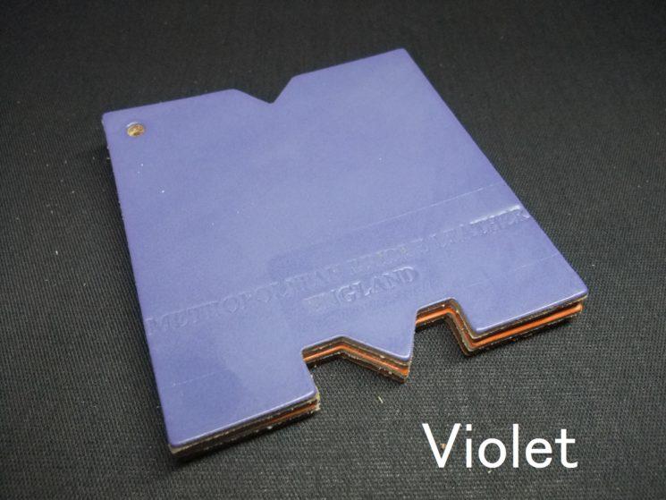 メトロポリタン社のブライドルレザーのヴァイオレットカラーの画像