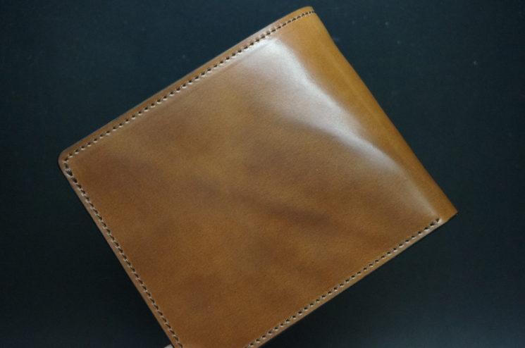 ホーウィンのコードバンのバーボンの二つ折り財布(小銭入れ付き)-1