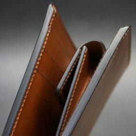 ホーウィンのコードバンのバーボンの二つ折り財布(小銭入れ付き)-3