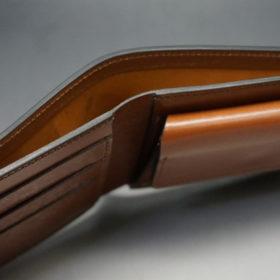 ホーウィンのコードバンのバーボンの二つ折り財布(小銭入れ付き)-4