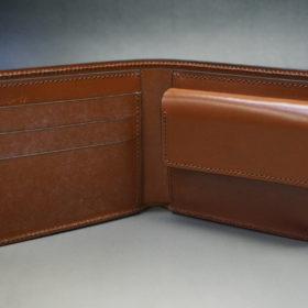 ホーウィンのコードバンのバーボンの二つ折り財布(小銭入れ付き)-5