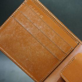 ホーウィンのコードバンのバーボンの二つ折り財布(小銭入れ付き)-6