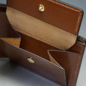 ホーウィンのコードバンのバーボンの二つ折り財布(小銭入れ付き)-8
