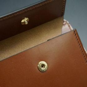 ホーウィンのコードバンのバーボンの二つ折り財布(小銭入れ付き)-9