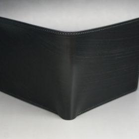 クレイトン社のブライドルレザーのブラックカラーの二つ折り財布(小銭入れ付き)の画像2