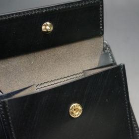 クレイトン社のブライドルレザーのブラックカラーの二つ折り財布(小銭入れ付き)の画像9