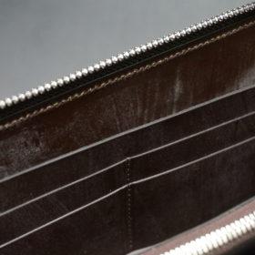 メトロポリタン社のブライドルレザーのダークブラウンカラーのラウンドファスナー長財布の画像12