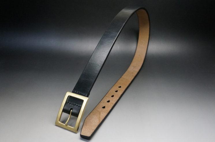 J.ベイカー社のブライドルレザーのブラックカラーのSサイズのベルト画像1