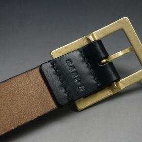 J.ベイカー社のブライドルレザーのブラックカラーのSサイズのベルト画像5