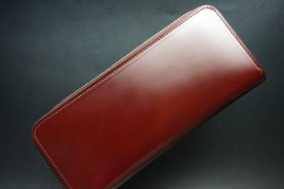 新喜皮革社の顔料仕上げコードバンのアンティークカラーのラウンドファスナー長財布の画像1