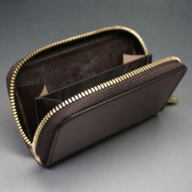 新喜皮革社の顔料仕上げコードバンのアンティークカラーのラウンドファスナー小銭入れ9