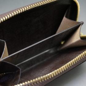 新喜皮革社の顔料仕上げコードバンのアンティークカラーのラウンドファスナー小銭入れ10