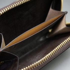 新喜皮革社の顔料仕上げコードバンのアンティークカラーのラウンドファスナー小銭入れ11