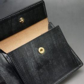メトロポリタン社のブライドルレザーのブラックカラーの二つ折り財布(小銭入れ付き)の画像10