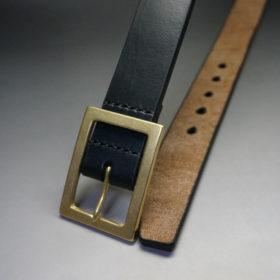 J.ベイカー社のブライドルレザーのブラックカラーのLサイズのベルト画像2