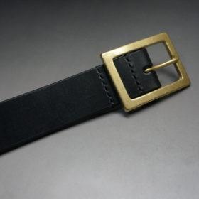 J.ベイカー社のブライドルレザーのブラックカラーのLサイズのベルト画像5