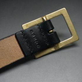 J.ベイカー社のブライドルレザーのブラックカラーのLサイズのベルト画像6