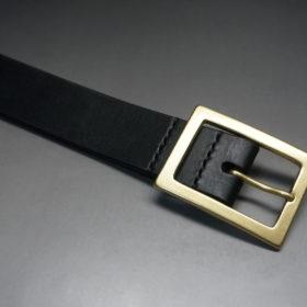 J.ベイカー社のブライドルレザーのブラックカラーのLサイズのベルト画像4