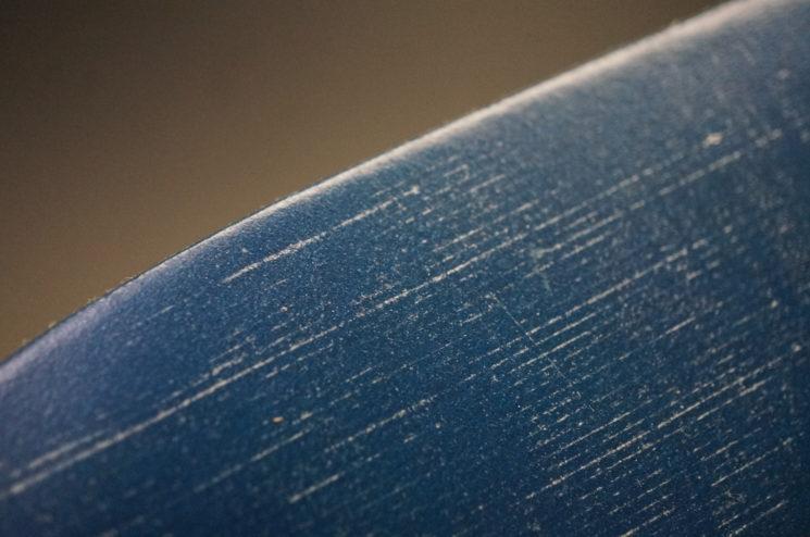 トーマスウエア社のブライドルレザーのブルーカラーの画像