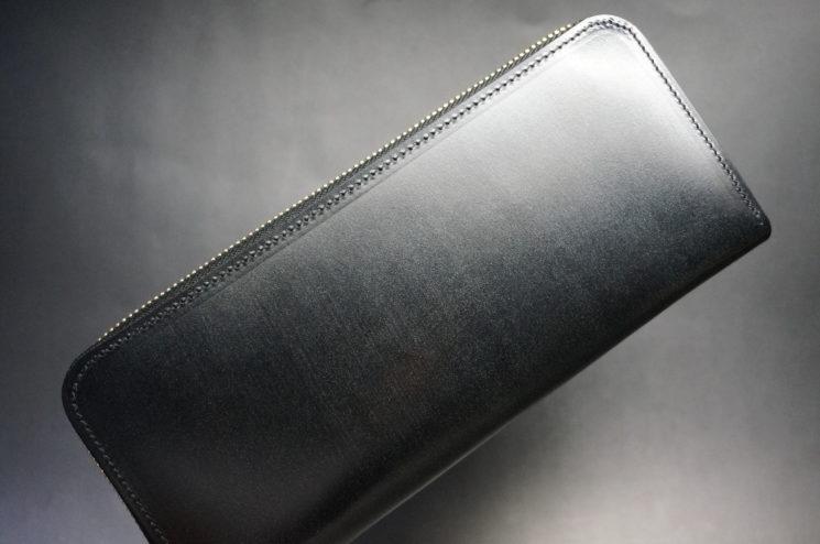 セドウィックのブライドルレザーのブラックのラウンドファスナー長財布-1