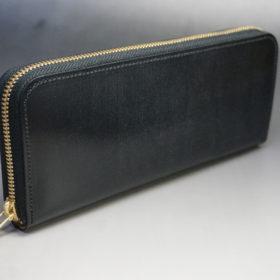 セドウィックのブライドルレザーのブラックのラウンドファスナー長財布-2