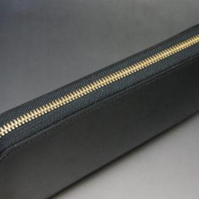 セドウィックのブライドルレザーのブラックのラウンドファスナー長財布-4