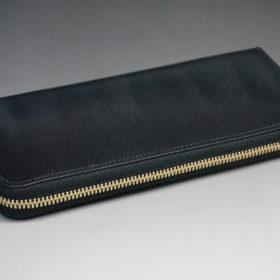 セドウィックのブライドルレザーのブラックのラウンドファスナー長財布-5