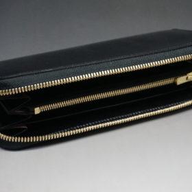 セドウィックのブライドルレザーのブラックのラウンドファスナー長財布-6