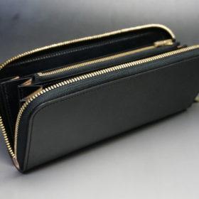 セドウィックのブライドルレザーのブラックのラウンドファスナー長財布-7