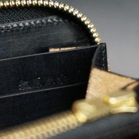 セドウィックのブライドルレザーのブラックのラウンドファスナー長財布-11