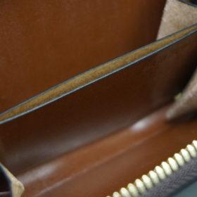 ホーウィンのコードバンのバーボンのラウンドファスナー小銭入れ-10