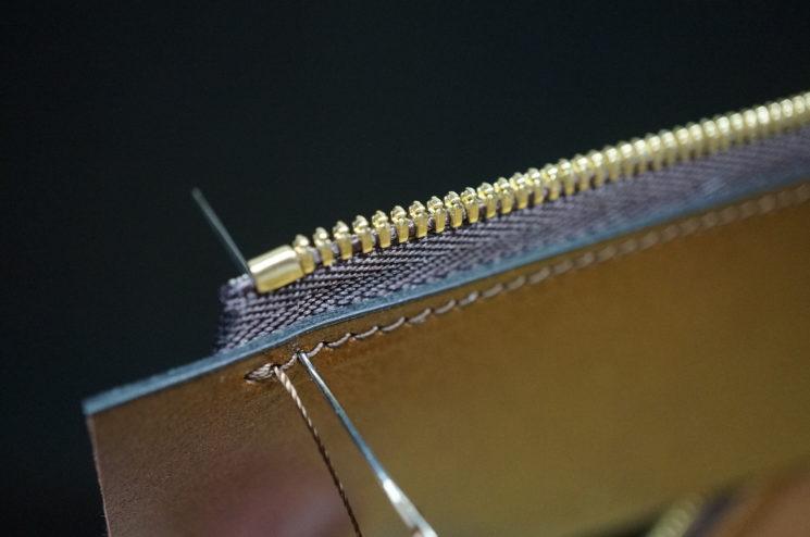 縫製の始まりと終わり部分の補強を写した画像