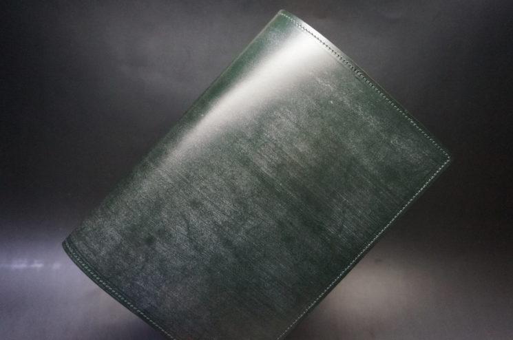 セドウィック社製ブライドルレザーのダークグリーンのA5判手帳カバー