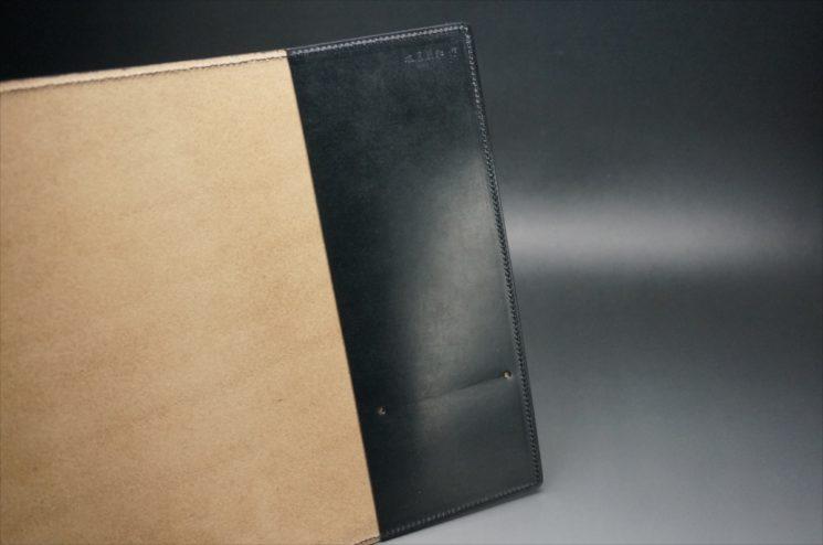 A5判手帳カバーのブラックカラーの内側
