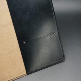 A5判手帳カバーのブラックカラーの内側のカードスリット