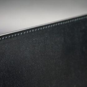 A5判手帳カバーのブラックカラーのステッチ
