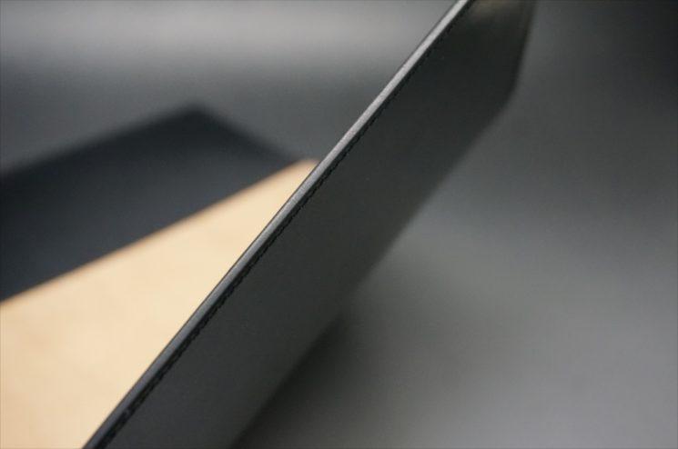 A5判手帳カバーのブラックカラーのコバの画像