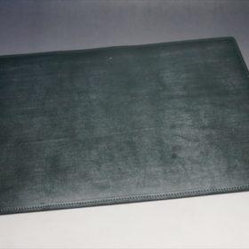 A5判手帳カバーのダークグリーンの外側フラット