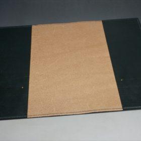 A5判手帳カバーのダークグリーンの内側フラット
