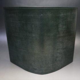 A5判手帳カバーのダークグリーンの本体外側