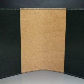 A5判手帳カバーのダークグリーンの内側全体