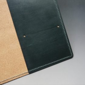 A5判手帳カバーのダークグリーンの内側カードスリット