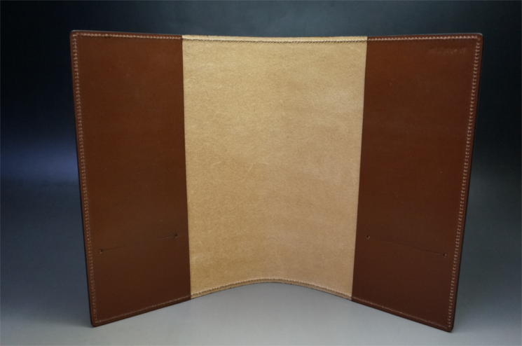 A5判手帳カバーのヘーゼルカラーの内側全体