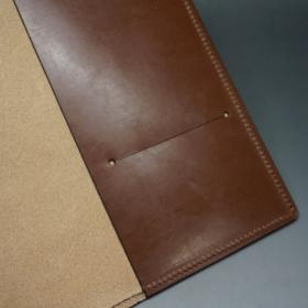 A5判手帳カバーのヘーゼルカラーの内側切り目部分