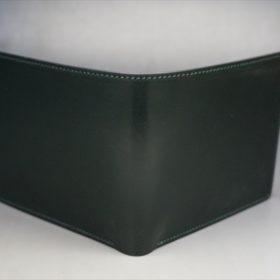 ダークグリーンのセドウィック社製ブライドルレザーの二つ折り財布-2